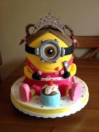 cake girl girly minion birthday cake girl cakes of birthday party planner