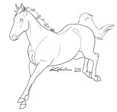 sport horse lineart by kholran deviantart com on deviantart