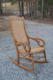 Oak Rocking Chairs Antique Cane Chair Foter