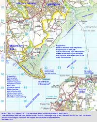 hurst map lymington keyhaven and west solent coast geology and coastal
