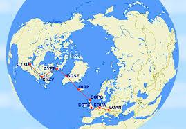 World Map Winter by Angel City Flyers North Atlantic Winter Crossing World War Ii