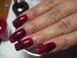 red u0026 purple water marble diy nail art tutorial youtube