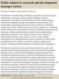 Logistics Manager Resume Examples by Top 8 Research And Development Manager Resume Samples