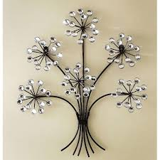wall art decor silver brushed decorative metal wall art striking
