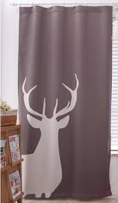 Deer Shower Curtains Modern Deer Pattern Curtains For Kitchen Living Room Door Bathroom