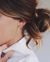 ear hoops best 25 gold hoops ideas on gold hoop earrings hoop