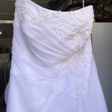 white wedding dress david s bridal dresses skirts white wedding gown poshmark