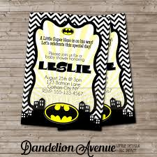batman baby shower ideas black chevron baby shower invitation with yellow