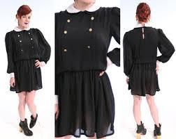 Wednesday Addams Costume Vintage Wednesday Addams Dress Etsy