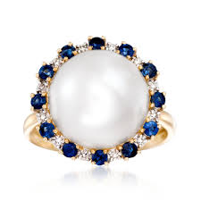 diamonds sapphire rings images 12 5 13mm cultured button pearl and 60 ct t w sapphire ring jpg