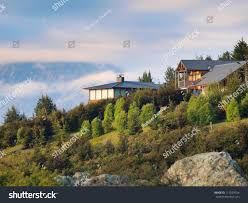 Houses In The Hills Houses Hills On New Zealand Countryside Stock Photo 117659554