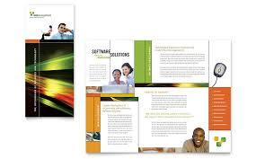 microsoft word templates brochure internet software brochure