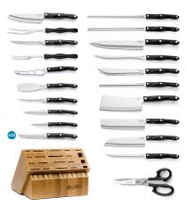 ultimate set with steak knives with block 37 pieces knife