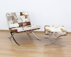 furniture unique cow barcelona chair replica and ottoman on