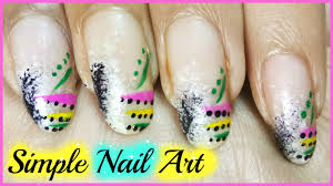 simple nail art designs step by step at home for beginners youtube