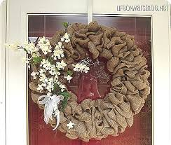 on mars easy burlap wreath