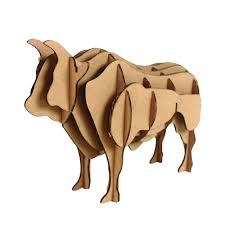 yak 3d puzzle bull model paper craft kids diy cardboard animal
