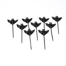 halloween bat cupcake toppers set of nine 9 vintage black bats