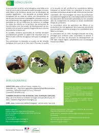 chambre d agriculture d auvergne la filière lait de vache biologique sur le bassin auvergne limousin