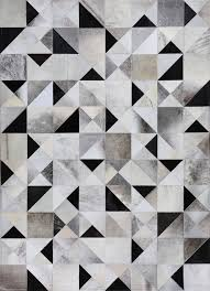 Patchwork Cowhide Gatsby By Mosaic Rugs Luxury Handcrafted Brown U0026 Ivory Patchwork