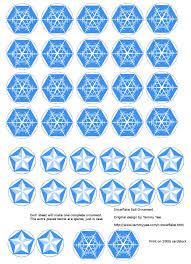 origami n stuff 4 snowflake ornament
