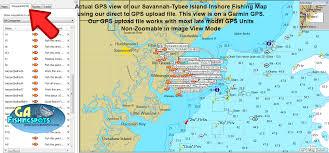 Map Of Savannah Ga Tybee Island Savannah Fishing Spots And Fishing Map