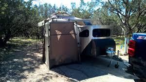 Retro Teardrop Camper One Man U0027s Rambles Making A Side Entrance Tent For Your Teardrop