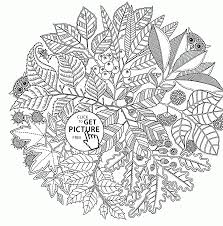 pattern fall coloring pages kids fall leaves printables free