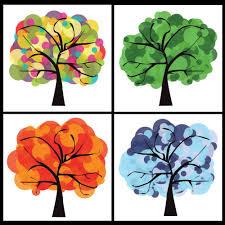 4pcs set free shipping modern wall painting big tree print