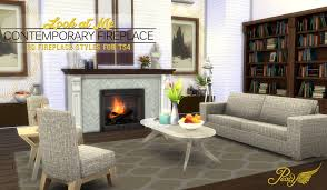 contemporary fireplaces by peacemaker ic teh sims