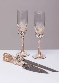 wedding glasses personalized wedding glasses and cake server set cake cutter