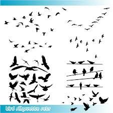 glamorous birds silhouette tattoo vector graphic tattoomagz
