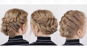 braided updos for short hair youtube