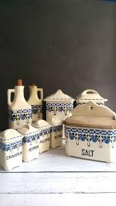vintage kitchen canisters sets kitchen canister set vintage kitchen by vintagebrassrevival