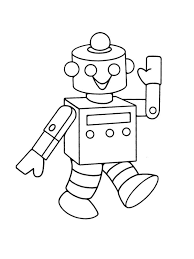 robot children coloring pages free printable coloring
