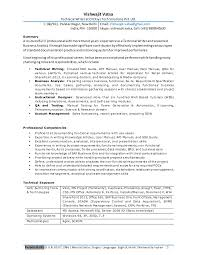Business Analyst Roles And Responsibilities Resume Professional Resume For Experienced Business Analyst Technical Writer