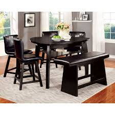 counter height dining table with swivel chairs furniture of america rathbun modern 6 piece counter height dining