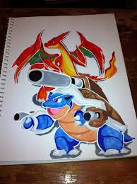 copic marker speed color mega blastoise mega charizard