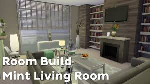 House Living Room by The Sims 4 Room Build Mint Living Room Youtube