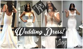my wedding dresses finding my wedding dress tips trying on dresses vlog more