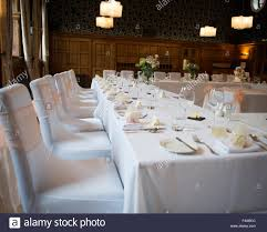 Silver Chair Covers Wedding Reception Table Layout Top Table With White Tablecloths