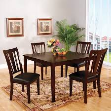 shop furniture of america bridgette i espresso 5 piece dining set furniture of america bridgette i espresso 5 piece dining set with dining table