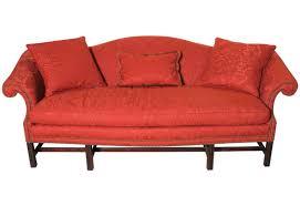chippendale sofa sofa camel back sofa awesome chippendale camelback sofas crimson