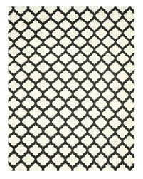 buy handmade wool black transitional trellis reversible modern
