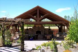 a frame kitchen ideas outdoor living spaces with fireplace timber frame outdoor living
