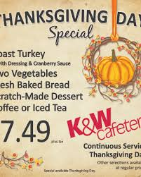 thanksgiving offers cameron k w cafeteria thanksgiving day special