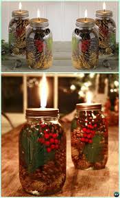 how to make mason jar lights with christmas lights holiday scented mason jar oil candle instruction diy christmas