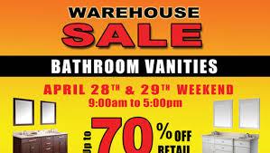 warehouse sale of bathroom vanities allsales ca