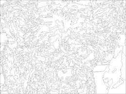 paint by number printable for adults free coloring pages on art