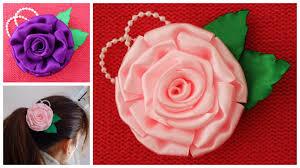 satin ribbon flowers diy satin ribbon satin flower tutorial how to make ribbon